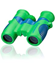 Bresser Junior kinderverrekijker 6x21 voor kinderen met middenaandrijffocus en robuuste rubberen verrekijker inclusief riemtas en draaglus