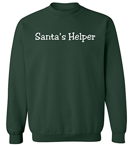 (Joe's USA Santas Helper Crewneck Sweatshirt-3XL-ForestGreen/c )