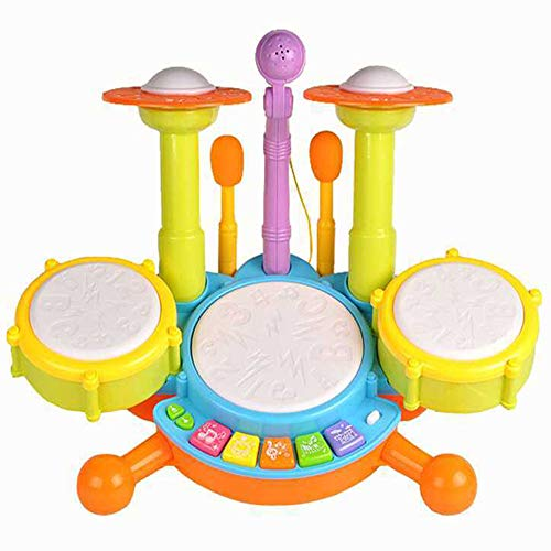 Mioshor Electronic Baby Musical Toy,Keyboard Piano Hand Clapping Drum 2 in 1 Kids Early Educational Learning Toy with Light Sound-Gift for Infant Toddlers (Colorful)