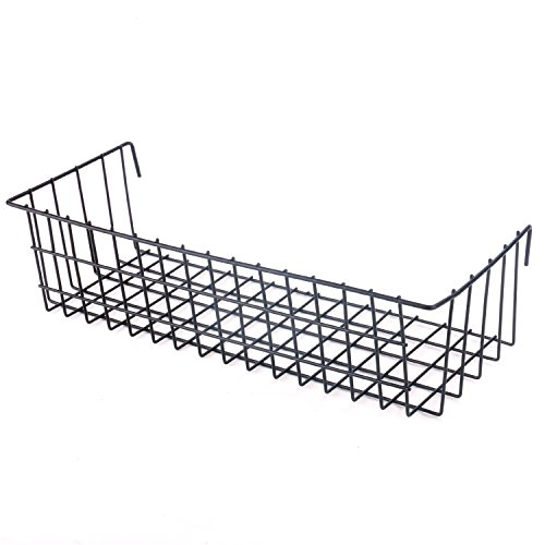 Kufox Multifunction Mesh Wire Metal Wall Grid Panel Mounted Storage Basket Organizer/Balcony Plant Holder/Shlef Flower Pots Holder