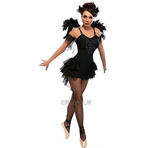 Halloween Black Male Costume Swan (Black Swan - Adult Ladies Halloween Gothic Ballerina Costume Lady: L (UK: 14-16) by Rubie's)