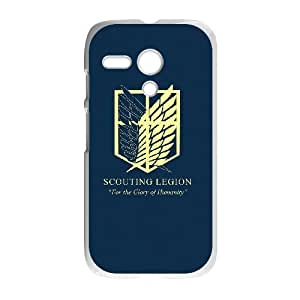 Motorola G Phone Case White Attack on Titan ZAS5549780
