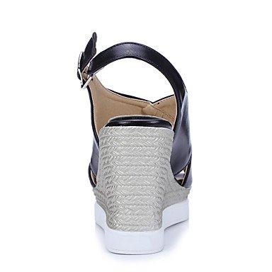 LvYuan-ggx Femme Chaussures à Talons Escarpin Basique PU de microfibre synthétique Polyuréthane Printemps Eté Mariage Habillé Soirée & Evénement black ectRhwUom9