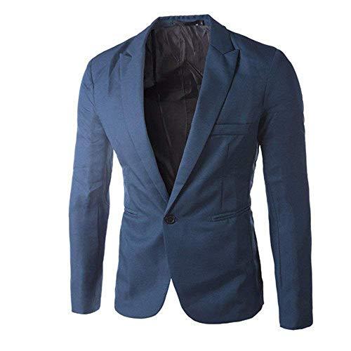 Fashion Tops Hommes Costume Veste Button Saoye Clothing Slim Blau One Fit Mode Tiefes dR4wxRgTq
