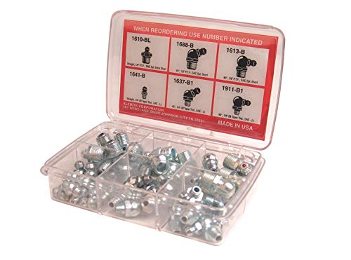 Alemite 2365-1 48 Piece Pocket Pack Fitting Assortment, Contains Six Types of Fittings ()