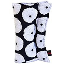 The ParkPuff Black and White Seatbelt Pillow (Mastectomy, Lumpectomy, Radiation Treatment, Chemo Port, Surgery) Gift for Breast Cancer Patients