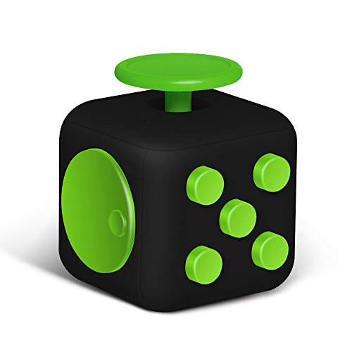 6 Sides Relieve Stress Fidget Cube For Fidgeter! Fidget Dice Anti-anxiety Toy for Children and Adults (blackblue)