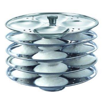 Prestige Stainless Steel Idli Plates, 5 Litres, Silver
