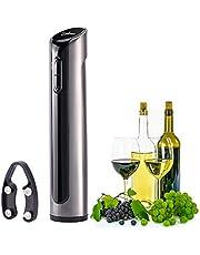 Hovinso Elektrischer Flaschenöffner, Korkenzieher Elektrisch Set mit Folienschneider, Ideal für Gummi/Kunststoffkorken / Großformat-Flaschen