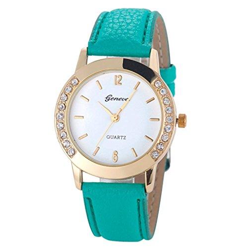 Pocciol Watch, Fashion Women Diamond Analog Leather Quartz Soft Wrist Watch Wirstwatches Clock (F) by Pocciol (Image #1)