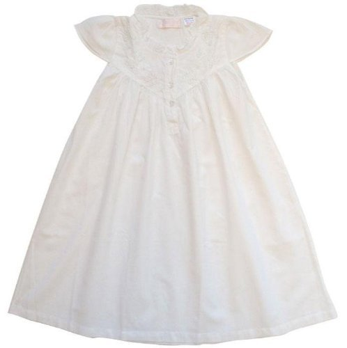 100% Cotton Shortsleeve Nightdress - Powell Craft - Millie - Seed Pearls - 8-9 years