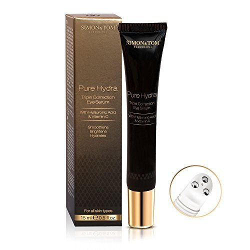 Hydra Complete Eye - Simon & Tom Pure Hydra Triple Correction Revitalizing Eye Roller for Dark Circles and Puffiness + Vitamin C 15 ml. / 0.5 fl.oz.