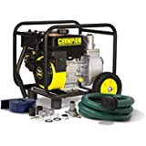 Champion Power Equipment 66520 2 Inch Semi-Trash Water Transfer Pump with Hose and Wheel Kit