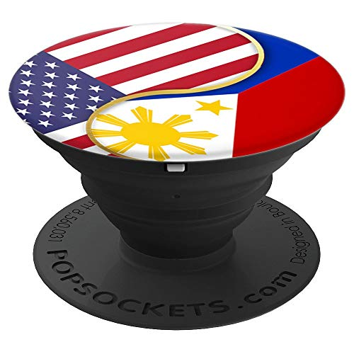 Filipino USA Flag Design with Philippines America Filam - PopSockets Grip and Stand for Phones and Tablets