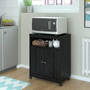 Altra Landry Microwave Cart Features A Large Top Surface For Placing Your Microwave (Black)