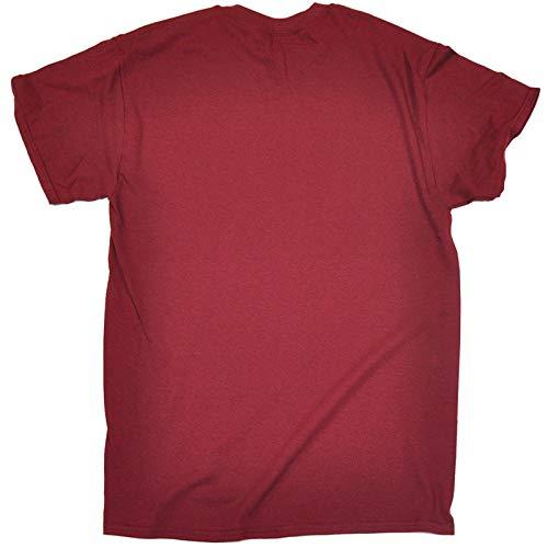 hombre para de rojo 123t corta Burdeos Slogans de eslogan Camiseta manga nwBCPq