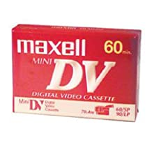 Maxell Mini Dv Cassette 60 Minute Withstand Rugged Operation Even Editing-Intensive Situations