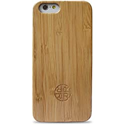 "iPhone 6 Case 6s Case 4.7"" - Zen Garden Bamboo Case for iphone 6/6s by Reveal Shop - Natural Bamboo Wood Exterior - Eco Friendly"