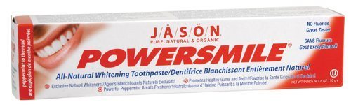 Jason Natural Products PowerSmile Toothpaste, 6 Ounce -- 6 per (Jason Natural Products Peppermint Toothpaste)