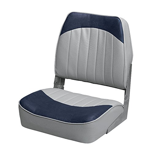 Wise 8WD734PLS-660 Low Back Boat Seat, Grey/Blue