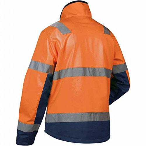 Blaklader Workwear High Vis Soft-Shell Jacket Orange//Navy Blue XXL