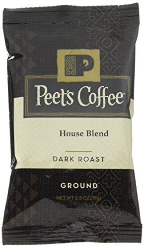 Peet's Coffee, House Blend, Initiate Coffee, Dark Roast, 2.5 oz. Fractional Packs (Pack of 18), Bright, Lively, and Balanced Dark Roast Blend of Latin American Coffees, Intense Roasted