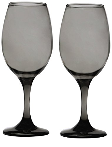 Circleware Uptown Grey Red-White Wine Glasse, Set of 4, 13 ounce