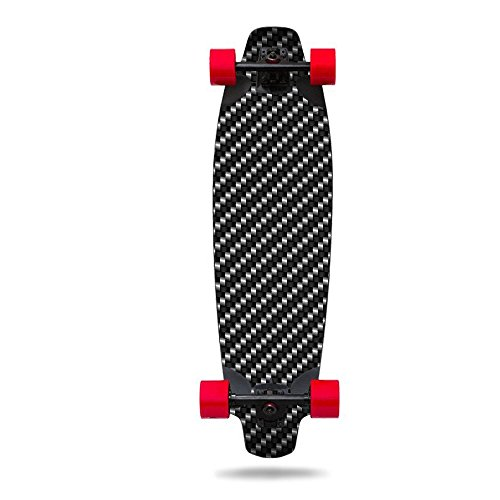 MightySkins Skin For Inboard M1 Electric Skateboard - Carbon Fiber | Protective, Durable, and Unique Vinyl Decal wrap cover | Easy To Apply, Remove, and Change Styles | Made in (Carbon Fiber Longboard)