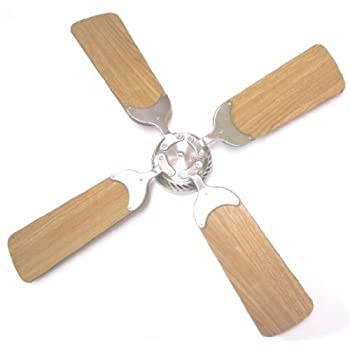 Global Electric 36 Inch Non Brush Ceiling Fan For RV, Brushed Nickel With