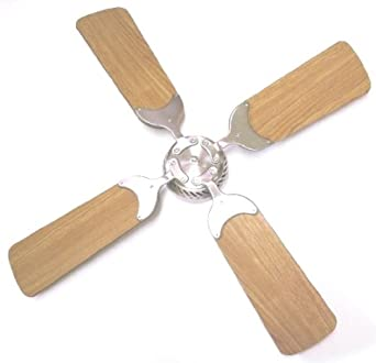 Global Electric 36-inch Non-Brush Ceiling Fan for RV, Brushed Nickel with Remote Control, Light Cherry Cherry Reversible Blades