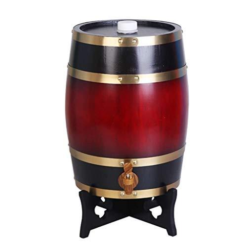 20L Beer barrel tap,wooden barrel,wine barrel,whiskey barrel, Beer Keg Appliances,Beer Keg Dispensersoak barrel, beverage dispenser, whiskey, aging barrel, barrel, wine, beer Bac bac (Color : D) ()
