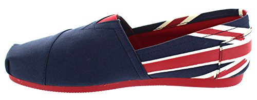 on Canvas Flats Flag eSmart Shoes Loafers Series Australia Espadrille Mexico Cup Slip Blue Women's World Canada Nautical England amp; Sports Mario France Joy Australia zSq8It