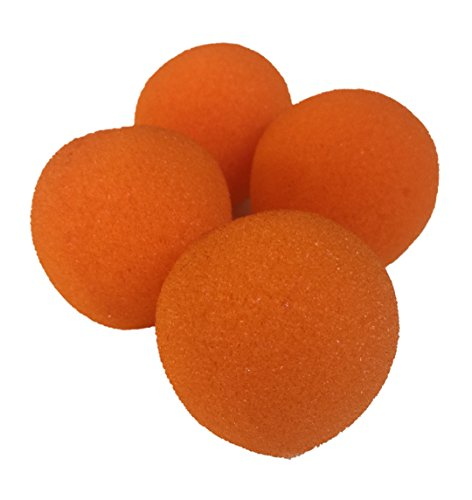 (London Magic Works Sponge Balls and Instructional DVD Trick Combo (Orange, 2 Inch))