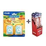 CAS Dr. Fresh Toothbrush Protection Lemon (Pack of 2) + Kent Finest Soft Toothbrush, Kent Toothbrush (Pack of 6) - Micro Thin Bristles, Anti-Bacterial, BPA Free for Sensitive Gums and Teeth