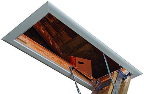 Louisville Escalera de aluminio para ático de 25–1/2 x 54 pulgadas, altura de techo de 7-10 pies, capacidad de 375-libras, tipo IAA, AA2510 (enchapado): Amazon.es: Bricolaje y herramientas