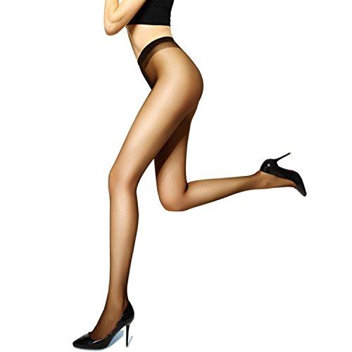 Miro Women's Socks Control Top 10 Den Silk Stockings for Women Tights High Panty Hose