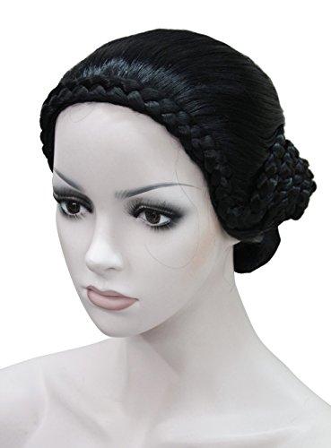 Special Retro Fancy Dress classical braids women elderly Ladies wig (Black) (Womens Fancy Dress Wigs)