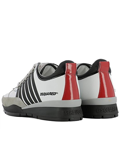SNM010111570001M072 Sneakers Weiss DSQUARED2 Herren Leder C5xpw47
