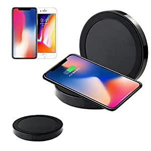 Iuhan Qi Wireless Power Charger Charging Pad For iPhone 8/iPhone 8 Plus (Black)