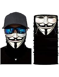 Seamless Bandana Tube Sun Face Mask Winter Biker Snowboard Face Masker Motorcycle Black Balaclava Sport Headband Bandana Skull Neck Scarf Warmer Cover for Men Women…