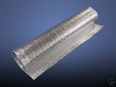 (Lot of 2) 4ft x 4ft Reflective SOLID Foam Core Insulation Pipe HVAC Duct Wrap