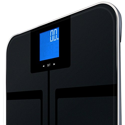 "EatSmart Precision GetFit Digital Body Fat Scale w/ 400 lb. Capacity Auto - 12.5"" x 12.5"" x 1"" - Free 3 yr Protection From Asurion, LLC"