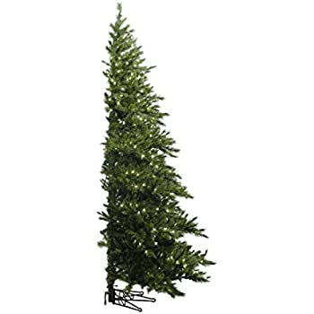 vickerman pre lit westbrook pine artificial half wall christmas tree with clear lights 65 - Half Christmas Tree