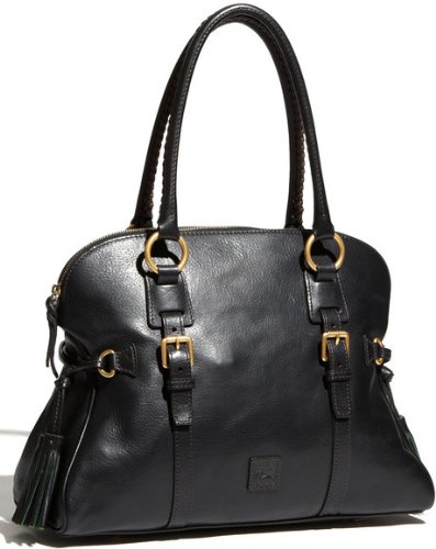 Dooney & Bourke Florentine Domed Buckle Satchel (Black)