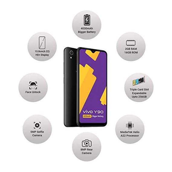 Vivo Y90 (Black, 2GB RAM, 16GB Storage)