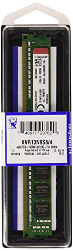 Kingston Technology KVR13N9S8/4 RAM 4 GB 1333 MHz DDR3 Non-ECC CL9 DIMM 240-Pin, 1.5 V Memory Module