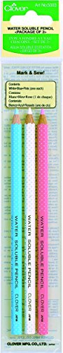 Clover Pencil - Clover Water Soluble Pencil Assortment, 3EA