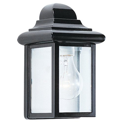 Sea Gull Lighting 8588-12 Single-Light Mullberry Hill Outdoor Wall Lantern with Clear Beveled Glass, (Georgian Cast Collection)