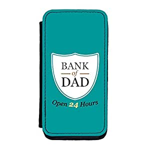 Bank of Dad Premium Faux PU Leather Case, Protective Hard Cover Flip Case for iPhone 5C by Chargrilled