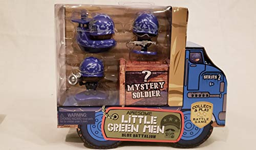 - Awesome Little Green Men 4 pc Starter Pack Series 2- Blue Battalion Action Figure